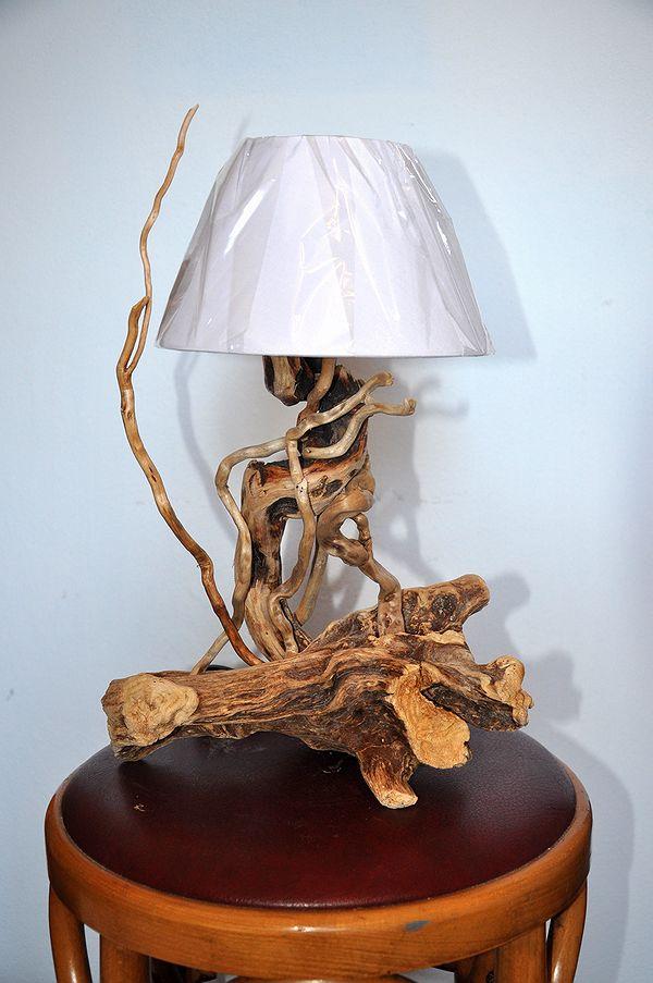 Lampade dal mare - Lampade artigianali artistiche, legno di mare, lampade originali fatte a mano